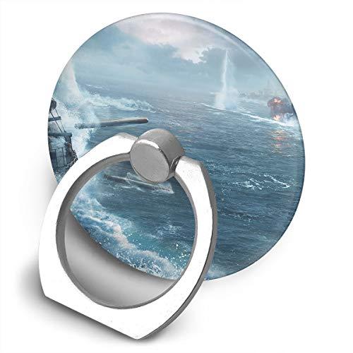 Cell Phone Finger Ring Holder Ship War 360 Degree Rotating Stand Grip Mount Phone Bracket ()