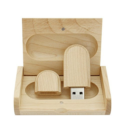 Maple Wood USB Flash Drive with Wooden Box U Disk Memory Stick Pen Drive (2.0/2GB)