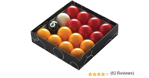 Powerglide rojo y amarillo estándar bolas de billar – todos los tamaños (16 piezas): Amazon.es: Deportes y aire libre