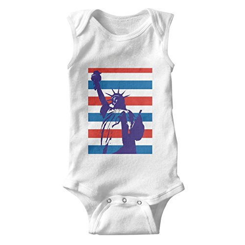 lsawdas Flag Statue of Liberty Unisex Baby Cotton Sleeveless Cute Baby Clothes Baby Onesies (Tour Ticket Child)