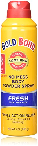 Gold Bond No Mess Spray Powder, Fresh Scent/Aloe, 3 Count