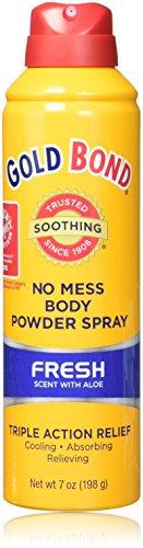 Gold Bond No Mess Spray Powder, Fresh Scent/Aloe, 3 ()