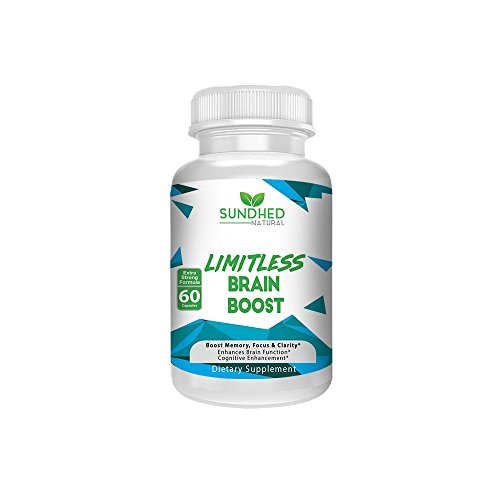 Sundhed Natural Limitless Brain Boost (60 caps) – Memory, Focus, Mental Clarity – Nootropics Scientific Formula for Enhance Performance, Super Ginkgo Biloba, St John Wort Extract, DMAE For Sale