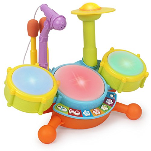 3 Octave Set (Summix Electronic Educational Music Toys Kid Beat Drum set with Microphone and Beautiful LED Lights)