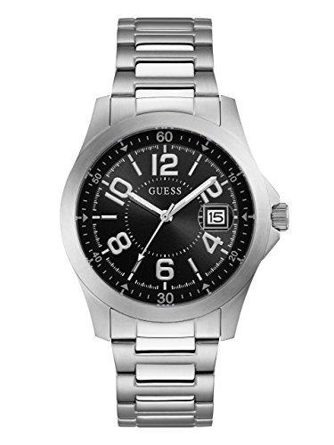 GUESS Men's Stainless Steel Bracelet Watch, Color: Silver-Tone (Model: U1103G1)