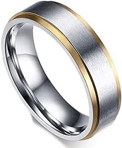 خاتم للجنسين من بلونا، فضي وذهبي، مقاس 10، R047