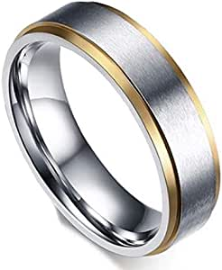 Unisex Ring By Bluna, Silver and Gold, Size 10, R047
