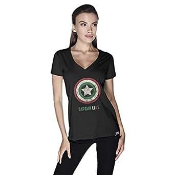 Creo Captain Uae T-Shirt For Women - S, Black