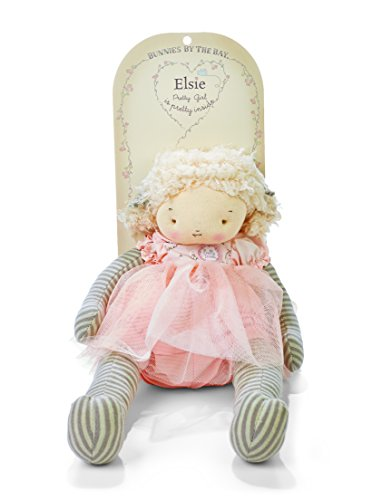 Bunnies By The Bay Elsie Plush Toy, Pink/Grey Stripe
