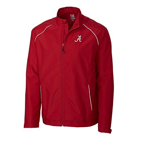 (Cutter & Buck Adult Men CB Weathertec Beacon Full Zip Jacket, Cardinal Red, X-Large )