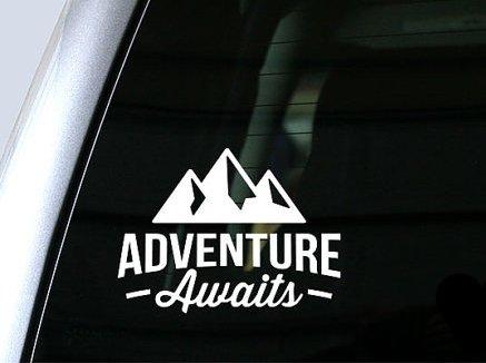 - Adventure Awaits Wanderlust Decal Vinyl Sticker Cars Trucks Vans Walls Laptop  White  5.5 x 4 in CCI1088