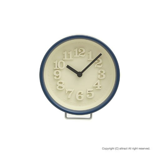 Lemnos レムノス 小さな時計 WR0715 ブルー スタンド付属 置時計 壁掛け時計 掛時計 ウォールクロック デザイン:渡辺力(インテリア デザイン 雑貨) B00D0833LC ブルー ブルー