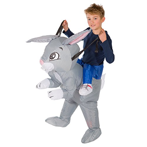 Cheap Rabbit Costumes (Bodysocks - Inflatable Rabbit Piggyback Animal Farm Children's Fancy Dress Costume)