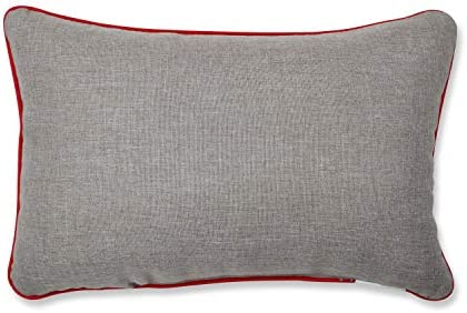 Pillow Perfect 629841 Christmas Star Topped Trees Decorative Lumbar Pillow 12 X 18 Gray Home Kitchen