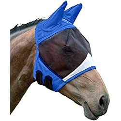Shires Fine Mesh Fly Mask with Ears Royal Full