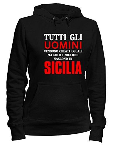 Nero Speed Solo Cappuccio Vengono In Migliori Tutti Uguali Gli T1210 Sicilia Donna I Creati Felpa Uomini Shirt Ma Nascono B4qrnx4SI