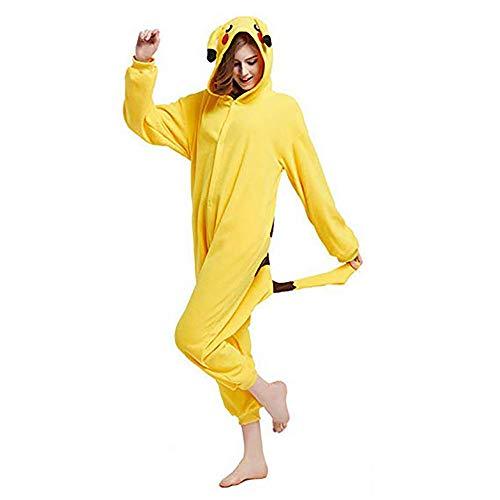 SHELY Unisex Adult Onesie Animal Cosplay Costume Halloween Xmas Pajamas (L for Height(65