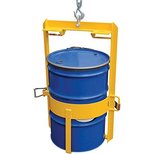 vestil drum lug overhead drum lifter 1000 lb capacity blue yellow mh depot. Black Bedroom Furniture Sets. Home Design Ideas