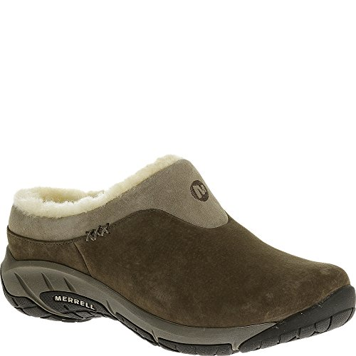 Merrell Womens Encore Ice Slip-On Clog, Stone, 7.5 B(M) US
