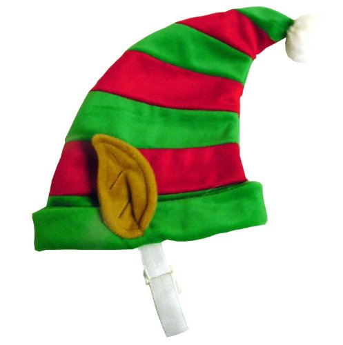 Outward Hound Kyjen  PP01869 Dog Elf Hat Holiday Christmas Pet Accessory, Medium, Red and Green -