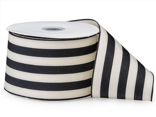 BLACK Cabana Stripes Ribbon2-1/2