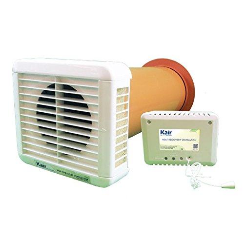 Vent-Axia Lo-Carbon Tempra 403834 Ventilator f/ür die W/ärmer/ückgewinnung mit Timer f/ür 1 Raum 46/cm