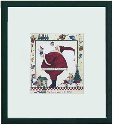 Amazon Com Tis The Season To Be Jolly By Sandi Gore Evans Framed Christmas Art Print 15 X 15 Posters Prints