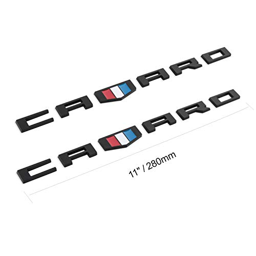 3D Emblems Badge for Chevy CAMARO RS SS ZL1 Z28 Decals(Matte Black)