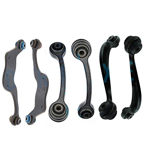 Detroit Axle - COMPLETE Rear Upper Control Arm Kit for 2008-2015 Buick Enclave - [2009-2015 Chevrolet Traverse] - 2007-2015 GMC Acadia - [2007-2010 Saturn Outlook]