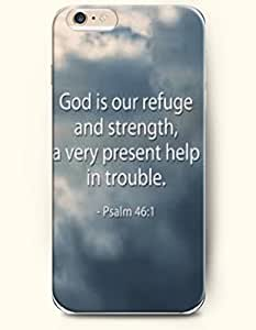 iPhone 6 Case,OOFIT iPhone 6 (4.7) Hard Case **NEW** Case with the Design of god is our refuge and strength, a very present help in trouble psalm 46:1 - Case for Apple iPhone iPhone 6 (4.7) (2014) Verizon, AT&T Sprint, T-mobile