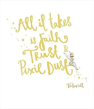 Image result for all it takes is faith and trust and pixie dust notebook