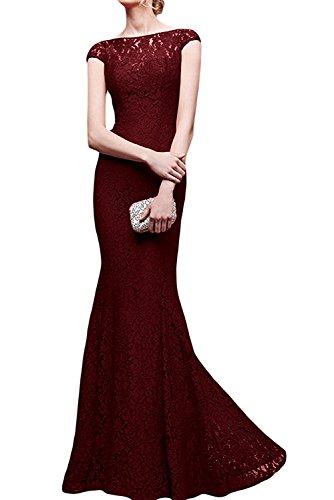Abendkleider Burgundy Damen La Brautmutterkleider mia Spitze Etuikleider Festlich Langes Braut Royal Blau Meerjungfrau qx0BA