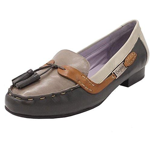 Everybody - Zapatos de cordones de Piel Lisa para mujer gris gris