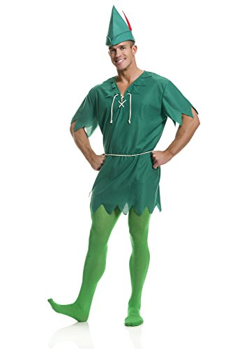 Charades Unisex Adult Peter Pan Costume, -