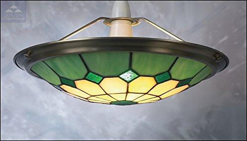 Lampadari E Plafoniere Tiffany : Paralume in vetro colorato con lampada upl design stile