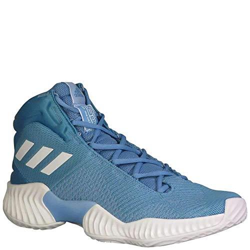 adidas Men's Pro Bounce 2018 Basketball Shoe, White/Light Blue, 8 M US ()