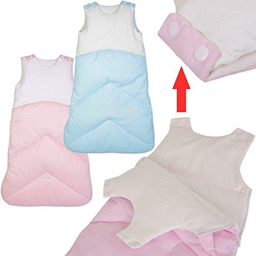 Baby Schlafsack DAUNENSCHLAFSACK (70cm) WOLKE (100% ENTENDAUNE) Winterschlafsack (Rosa)