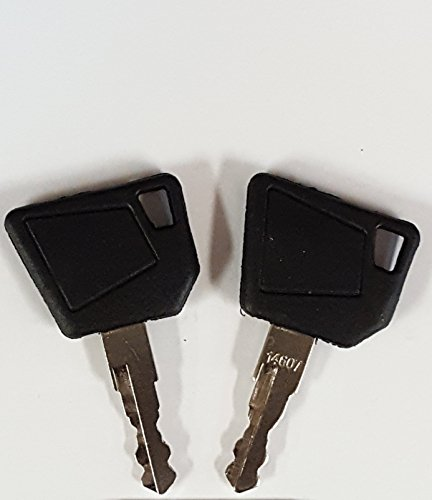 Pair (2 keys) Keyman JCB Equipment Key-Ignition key for Bobcat, Bomag, Caterpillar, Dynapac, Ford, Gehl, Hamm, Hang, JCB, Moxy, New Holland, Rayco, Sky Trak, Terex, Vibromax, Volvo, Part Number (Excavator Parts)