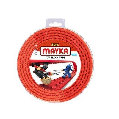 Zuru – Mayka – Bande Autocollante pour Briques de Construction – Rouge – 4 Tenons x 2 Mètres