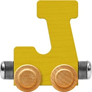 product image for Maple Landmark NameTrain Bright Letter Car J - Made in USA (Yellow)
