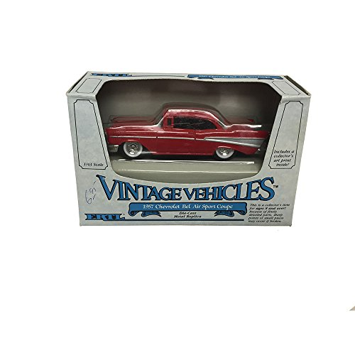 ERTL Vintage Vehicles 1957 Chevrolet Bel Air Sport Coupe Metal Replica Diecast Models Car 1:43 Scale -