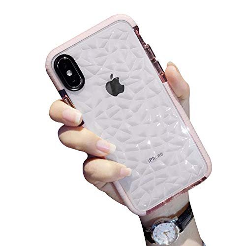 Basic Case Compatible with iPhone X/XS,Luhuanx Slim Soft TPU Case+Diamond Design Pattern Back Fit for iPhone X 5.8 inch Silicone Cover for iPhone 10
