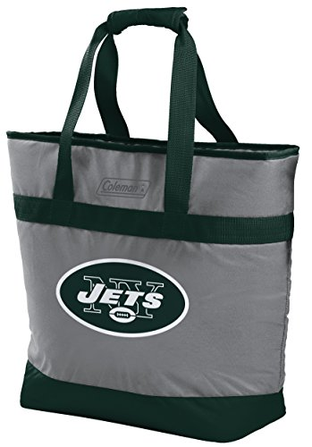 - NFL New York Jets Unisex LP0757NFL 30 Can Tote Cooler, Green, Adult