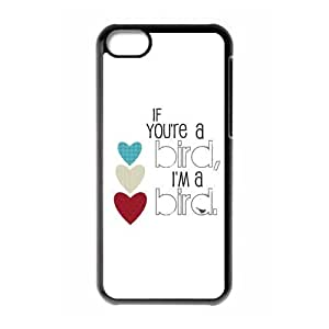 New products,Animal series,Funny bird, if you're a bird, i'm a bird. picture for black plastic iphone 5c case