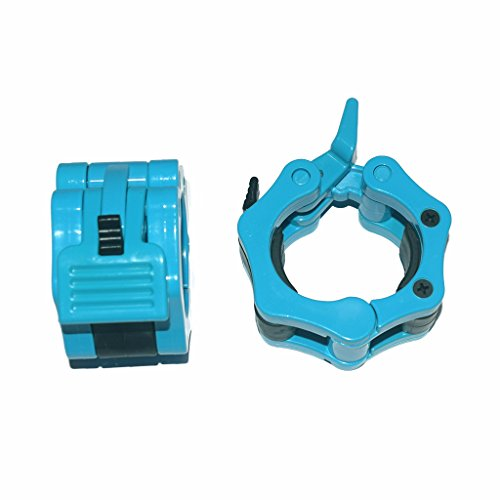 E2shop 5CM 50mm Quick Release Pair of Locking 2' Olympic Size Barbell Clamp Collar Barbell Clamp...