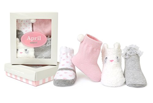 Trumpette Baby Girl (Trumpette Baby Girls Sock Set-4 Pairs, April's-Assorted Pastels, 0-12 Months)
