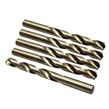 X AUTOHAUX 5pcs 14mm High Speed Steel Straight Shank Spiral Twist Drill Bits for Auto Car