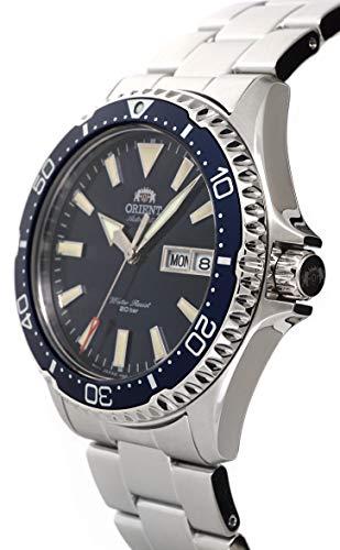 ORIENT herr dykning sport automatisk 200 m klocka med blå urtavla stålarmband RA-AA0002L