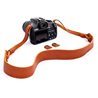 b.still Leather Camera Shoulder Neck Strap for Leica Canon Nikon Fuji Olympus Lumix Sony + FREE Lens Bag