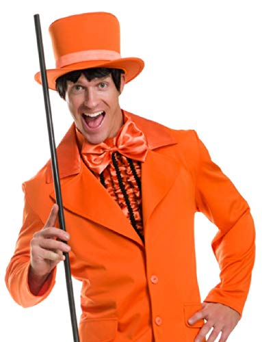 Deluxe Orange Dumb and Dumber Mad Hatter Gentlemens Top Hat Costume Accessory